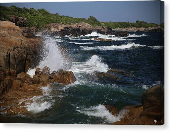 Surf At Biddeford Pool Canvas Print