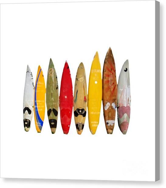 Canvas Print featuring the digital art Surf Board T-shirt by Edward Fielding