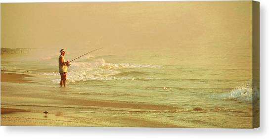 Surf Casting Canvas Print by JAMART Photography