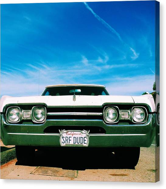 Santa Monica Canvas Print - Surf Dude's Oldsmobile by Robert Ceccon