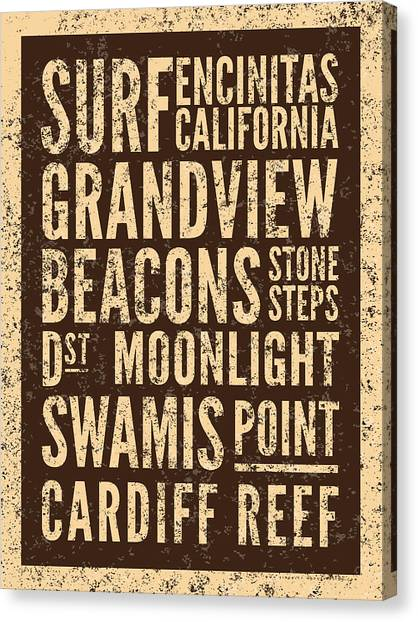 Surf Canvas Print - Surf Encinitas California by Mark Kingsley Brown