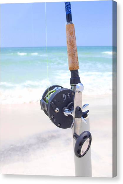 Surf Fishing Canvas Print