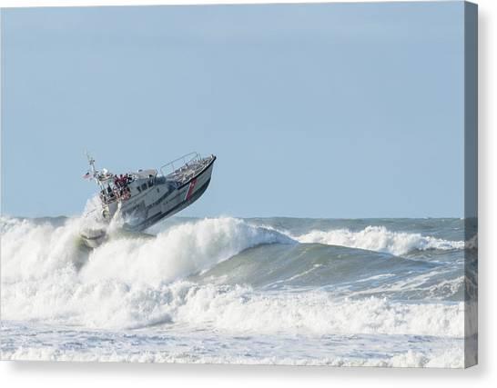 Surf Rescue Boat V2 Canvas Print