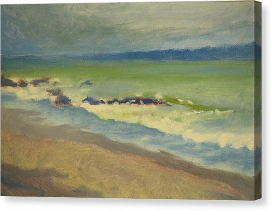 Surf Canvas Print by Robert Bissett