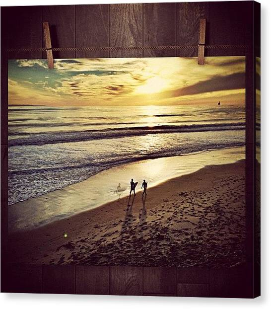Ucsb Canvas Print - #surf #santabarbara #california #ucsb by Sean Malarkey