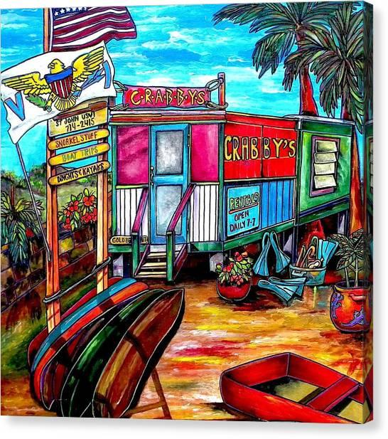 Surf Shack Canvas Print by Patti Schermerhorn