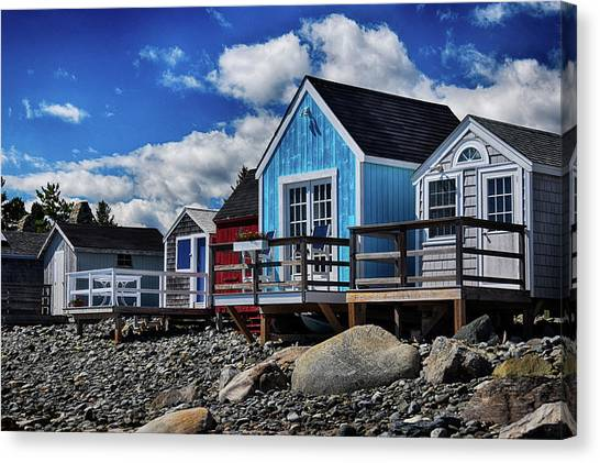 Surf Shacks Canvas Print