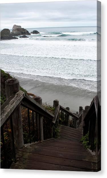 Surf Stairway Canvas Print
