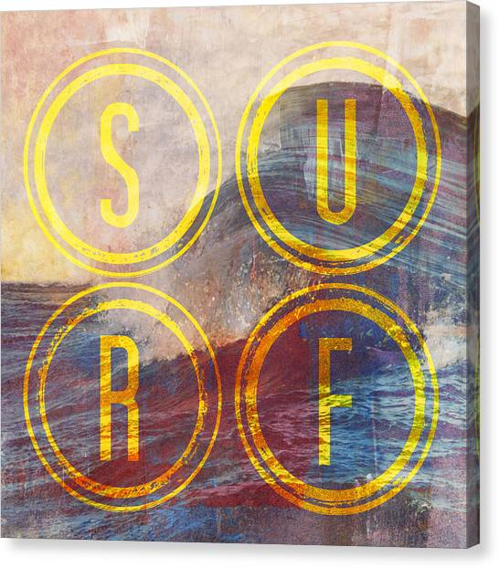 Surfing Canvas Print - Surf V2 by Brandi Fitzgerald