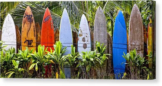 Surfboard Fence Canvas Print - Surfboard Fence 5 by Rosanne Nitti