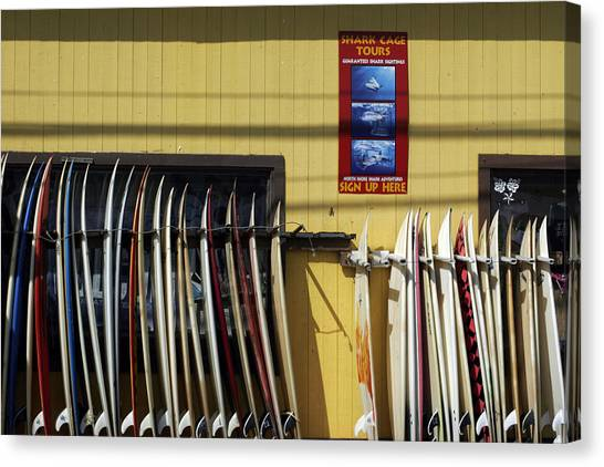 Surfboard Selection Canvas Print