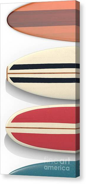 Canvas Print featuring the digital art Surfboards Cell Phone Case by Edward Fielding