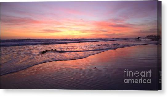 Surfer Afterglow Canvas Print