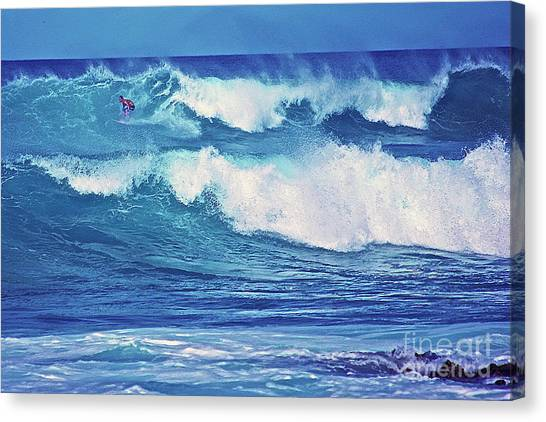 Surfer Catching A Wave Canvas Print