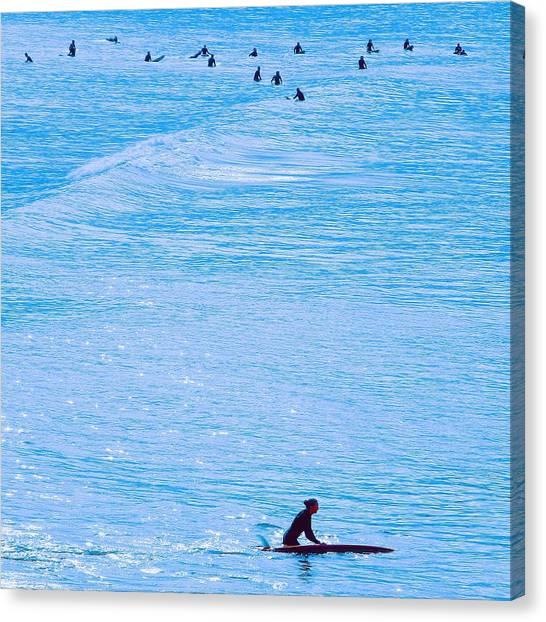 Santa Monica Canvas Print - Surfer Girl by Robert Ceccon