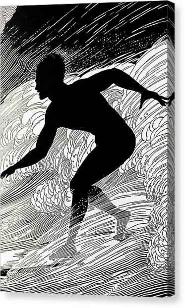 Surfing Canvas Print - Surfer by Hawaiian Legacy Archive - Printscapes