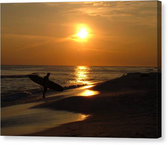 Surfer Canvas Print by Navarre Photos