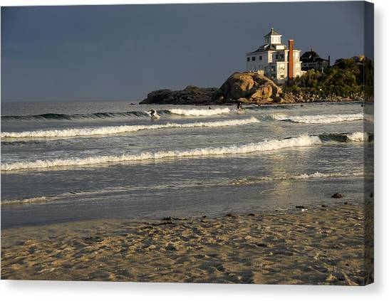 Surfers At Good Harbor Canvas Print