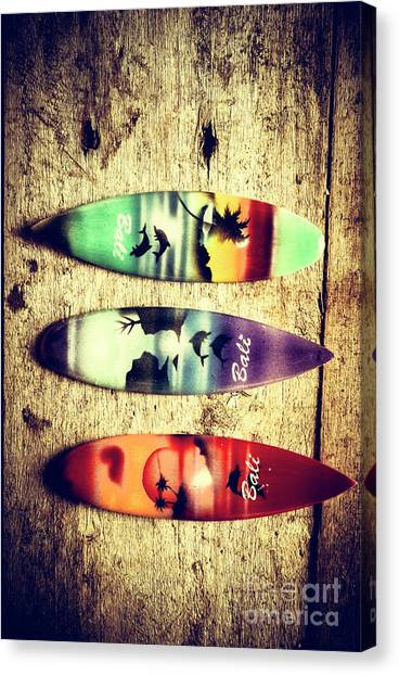 Surfboard Canvas Print - Surfers Parade by Jorgo Photography - Wall Art Gallery