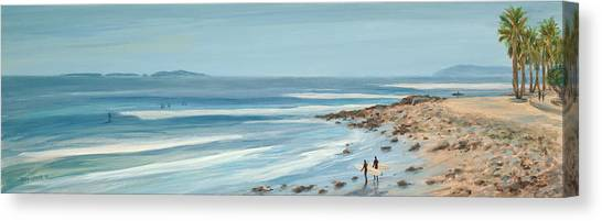 Surfers Point The Cove Canvas Print by Tina Obrien