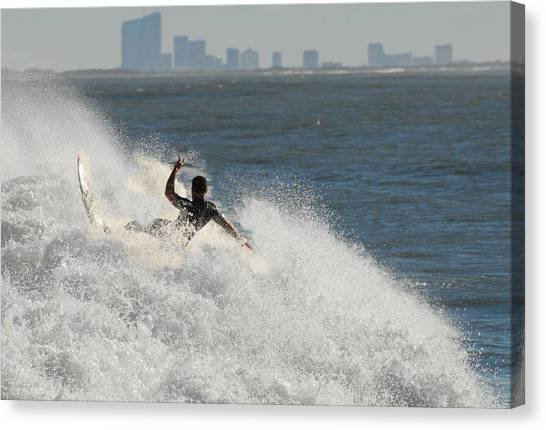 Surfinf 94 Canvas Print by Joyce StJames