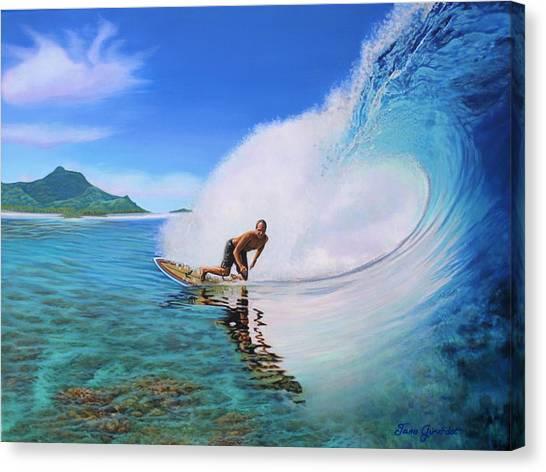 Surfing Dan Canvas Print