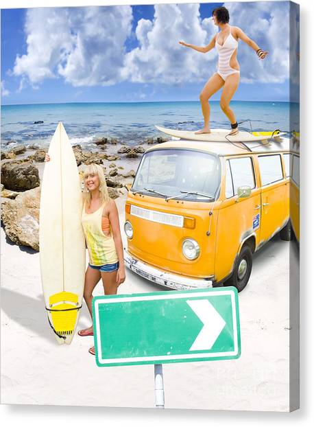 Canvas Print featuring the photograph Surfing Holiday This Way by Jorgo Photography - Wall Art Gallery