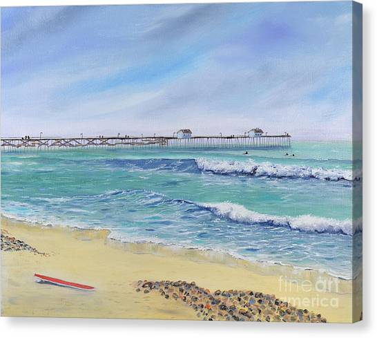 Surfing In San Clemente Canvas Print