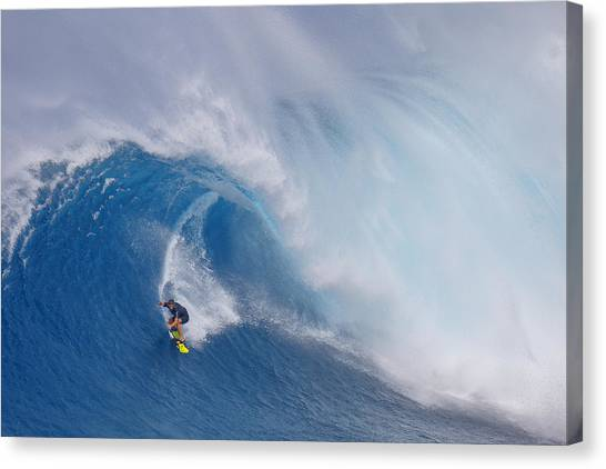 Sports Canvas Print - Surfing Jaws by Peter Stahl