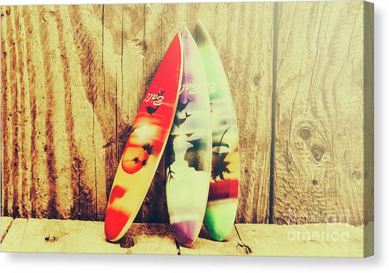 Surfboard Canvas Print - Surfing Still Life Artwork by Jorgo Photography - Wall Art Gallery