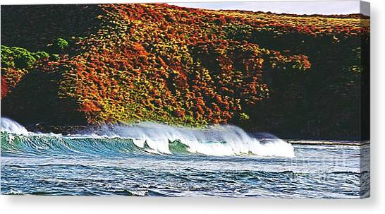Surfing The Island Canvas Print