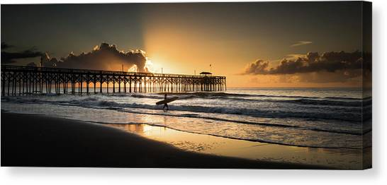 Beach Sunrises Canvas Print - Surf's Up by Ivo Kerssemakers
