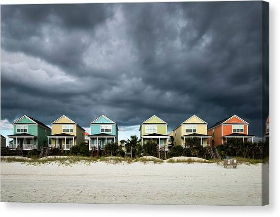 Carolina Canvas Print - Surfside Beach Houses by Ivo Kerssemakers