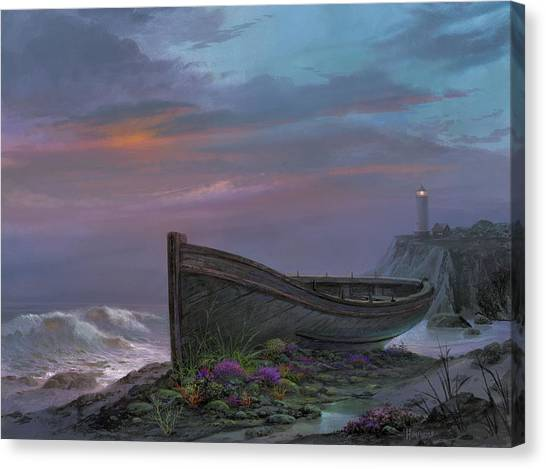 Beach Cliffs Canvas Print - Surfside Garden by Michael Humphries
