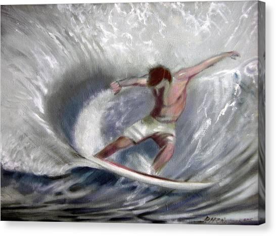 Surf'sup Canvas Print by Patrick McClintock