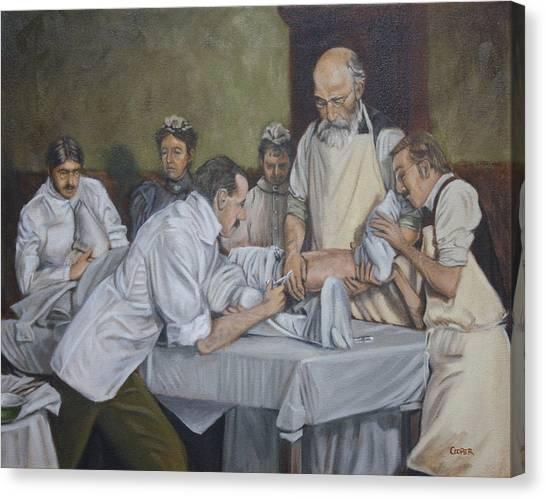 Surgery 1900 Canvas Print