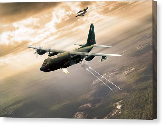 Vietnam War Canvas Print - Surprise Package by Peter Chilelli