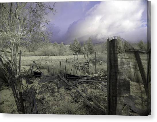 Canvas Print featuring the photograph Surreal Cloud And Pasture by Chriss Pagani