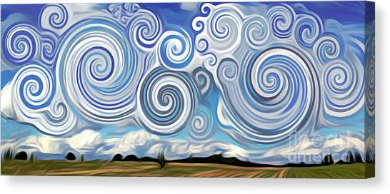 Surreal Cloud Blue Canvas Print