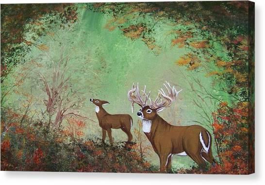 Surreal Deer Canvas Print by Jena Gillam
