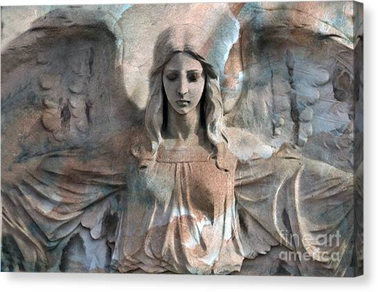 Angel Art By Kathy Fornal Canvas Print - Surreal Fantasy Dreamy Angel Art Wings by Kathy Fornal