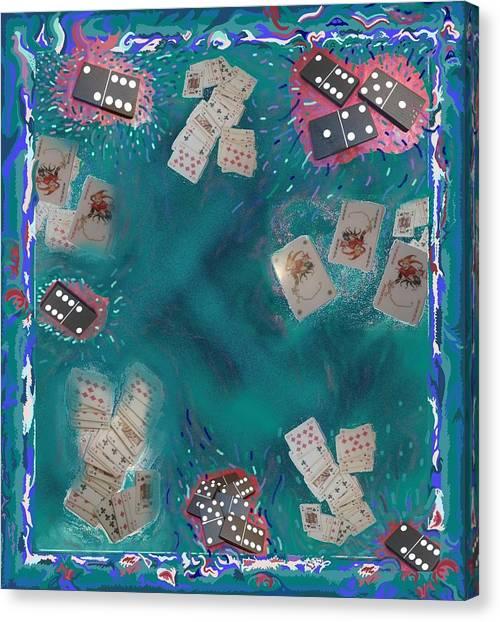 Surreal Lake Art And Poem Canvas Print