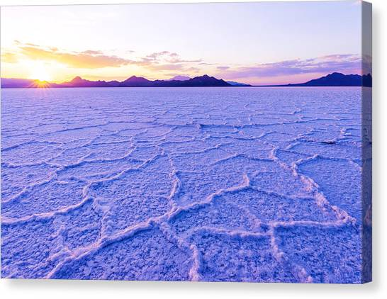 Utah Canvas Print - Surreal Salt by Chad Dutson