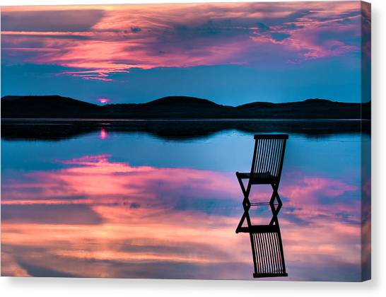Surreal Canvas Print - Surreal Sunset by Gert Lavsen