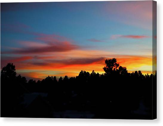Canvas Print featuring the photograph Surreal Sunset by Jason Coward
