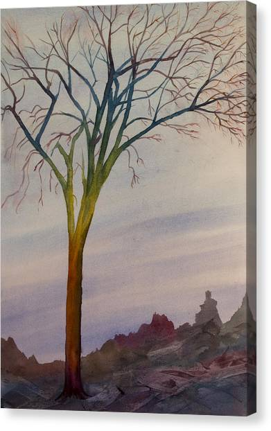 Surreal Tree No. 2 Canvas Print by Debbie Homewood