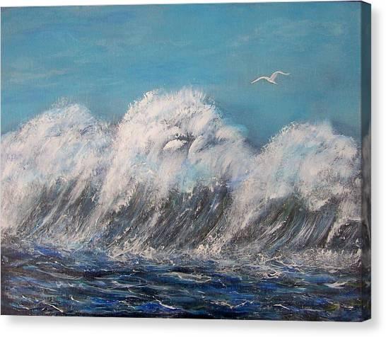 Surreal Tsunami Canvas Print by Tony Rodriguez