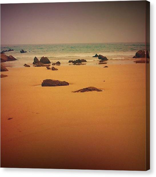 Contemporary Art Canvas Print - Surrealistic Beach by Contemporary Art
