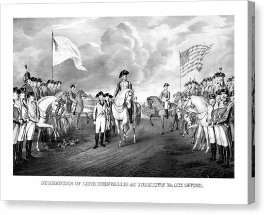 George Washington Canvas Print - Surrender Of Lord Cornwallis At Yorktown by War Is Hell Store
