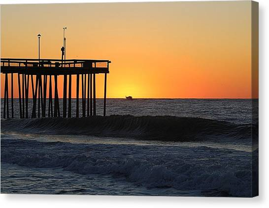 Canvas Print featuring the photograph Surrounded By Sunrise by Robert Banach